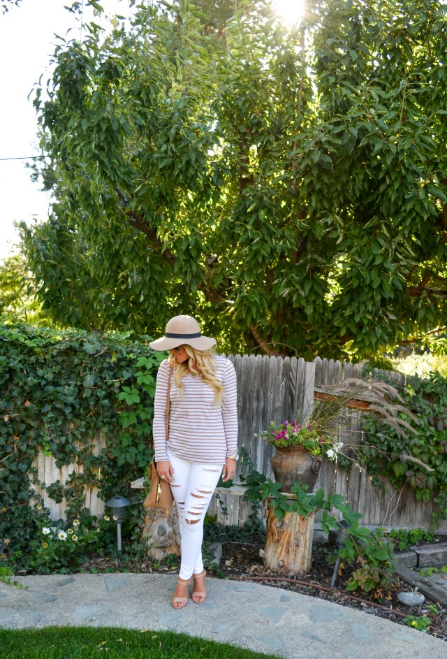 fall fashion, stripes, cabi clothing, ag jeans, tory burch bag