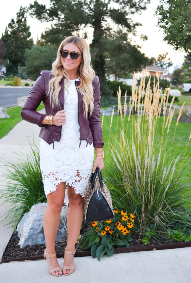 lace dress, shein, sheinside, leopard bag, nude heels
