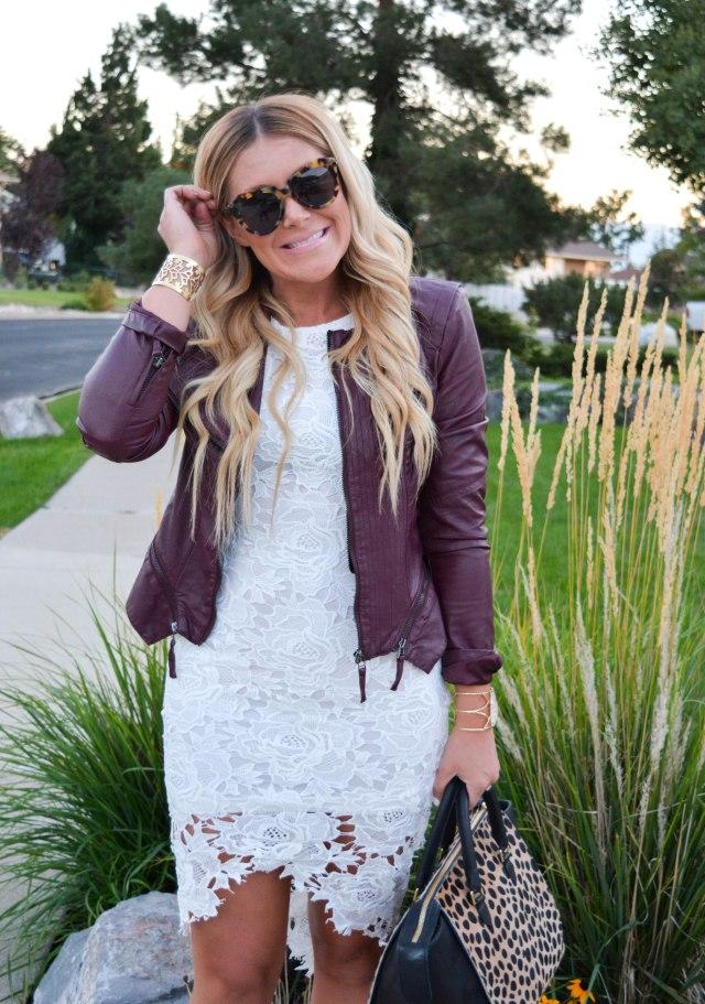 fall fashion, leather jacket, karen walker sunglasses